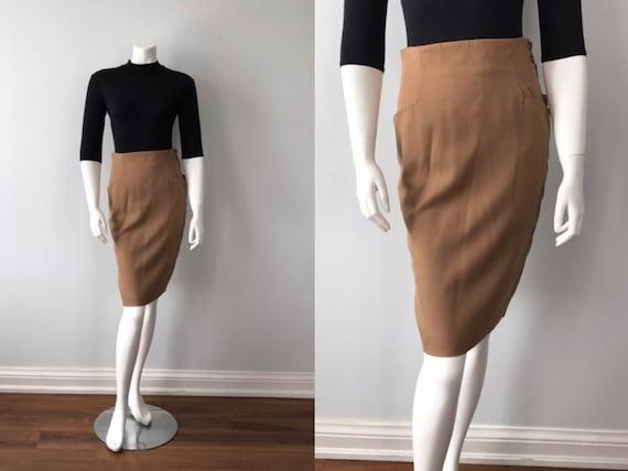 Vintage Pencil Skirt, Kors, Micheal Kors, Camel Pe