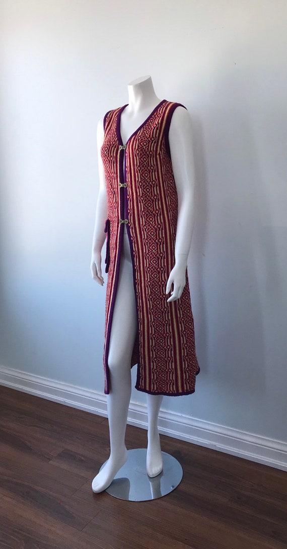 1960s Knit Long Vest, 1960s Wool Vest, Favorite K… - image 6
