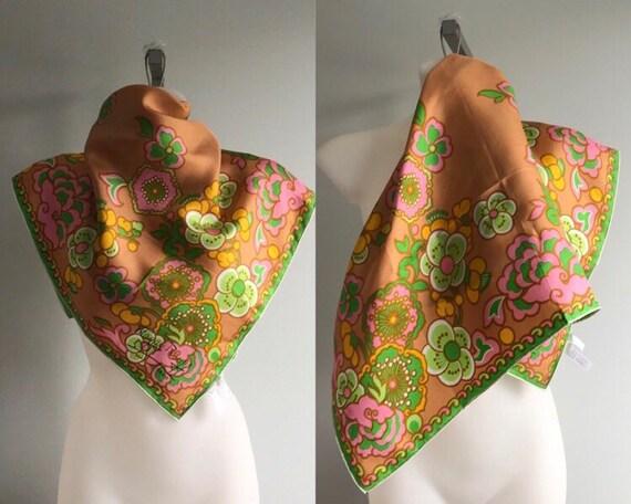 Vintage Scarf, Vintage Scarves, 1960s Scarf, 1960s