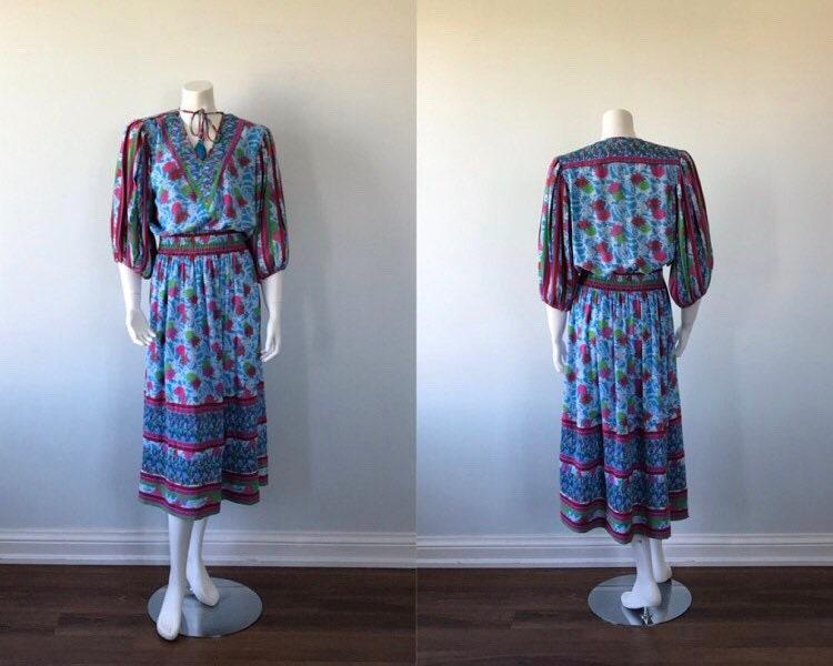 80s Dresses | Casual to Party Dresses Vintage Casual Dress, Diane Freis, 1980S Floral Summer Dress $27.26 AT vintagedancer.com