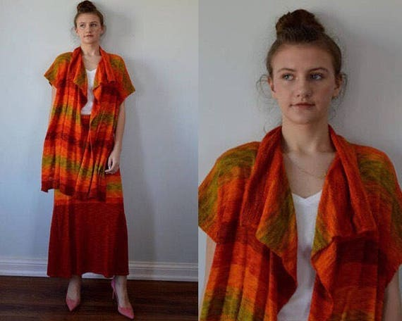 Vintage 1970s Chacok Knit Suit, Chacok, 1970s Ladi
