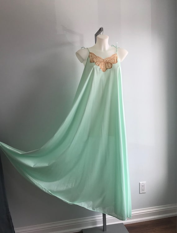 Vintage Nightgown, Mint Green Nightgown, Lov Lee,… - image 2