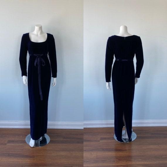 Blue Velvet Evening Gown, Nicole Miller, Vintage V
