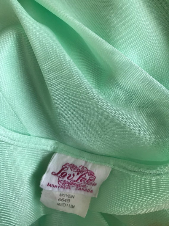 Vintage Nightgown, Mint Green Nightgown, Lov Lee,… - image 6