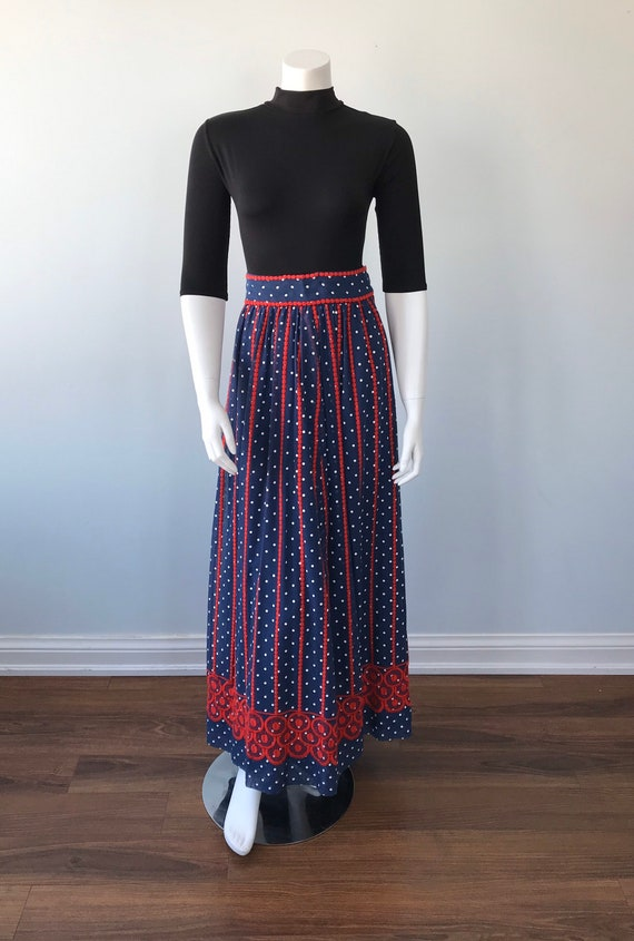 Vintage Helen Howell Maxi Skirt, Vintage Maxi Ski… - image 2
