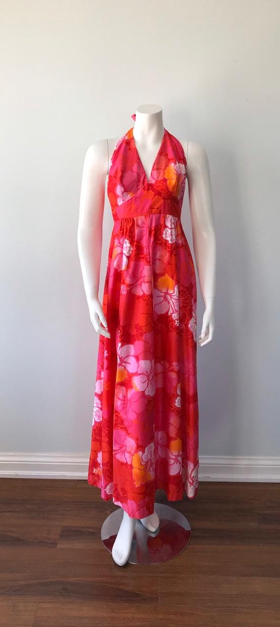 Vintage Halter Dress, Wika of Hawaii Ltd, 1960s H… - image 2
