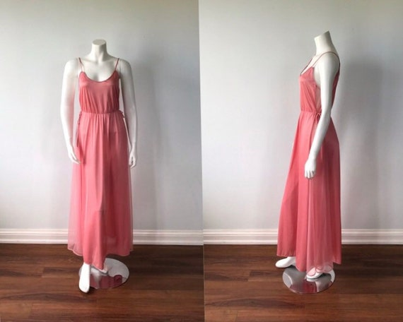 Vintage Pink Nightgown, St Michael, 1970s Nightgow
