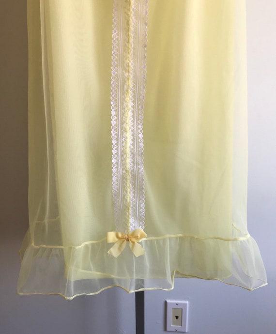 Vintage Chiffon Nightgown, 1960s Chiffon Nightgow… - image 6