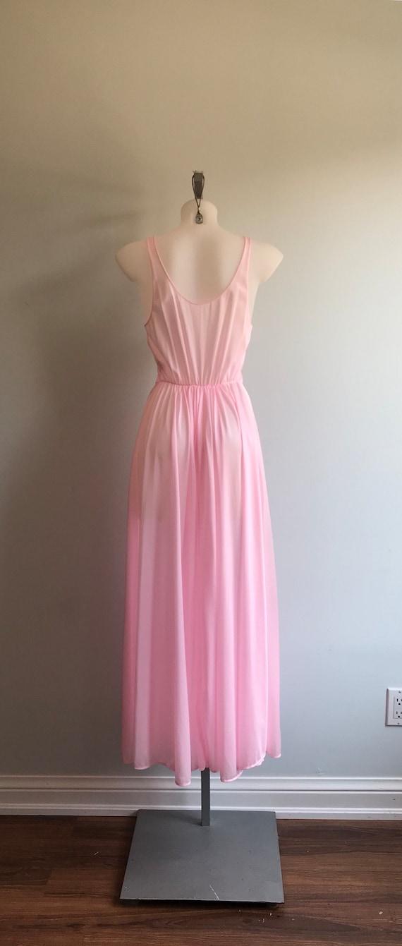 Vintage Pink Nightgown, 1970s Nightgown, Lov Lee,… - image 6