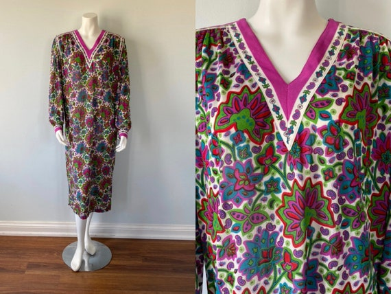 Vintage 1980s Dress, Gibi Roma, 1980s Dress, Long