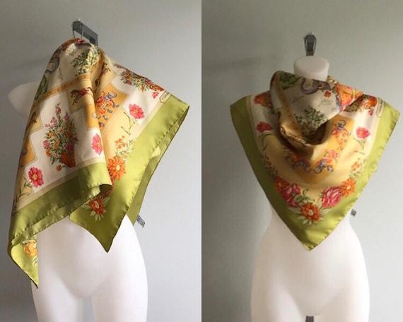 Vintage Silk Scarf, Vintage Salvatore Ferragamo Si