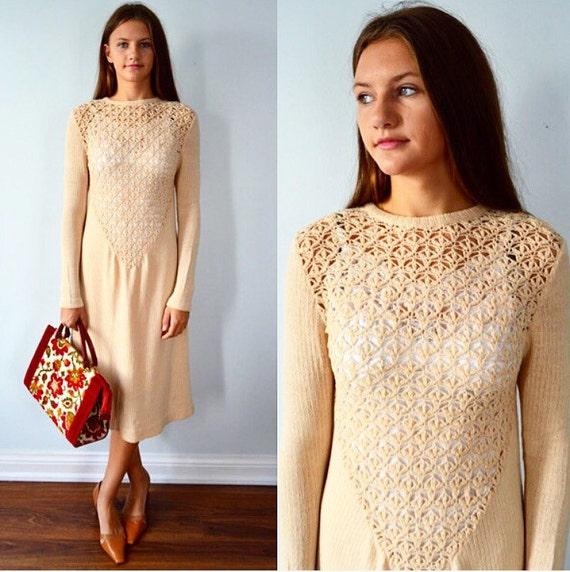 Vintage Knit Dress, Marni Knit, Oatmeal Knit Marni