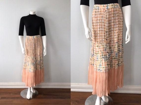 Vintage Sandro Paris Skirt, Vintage Pleated Skirt,