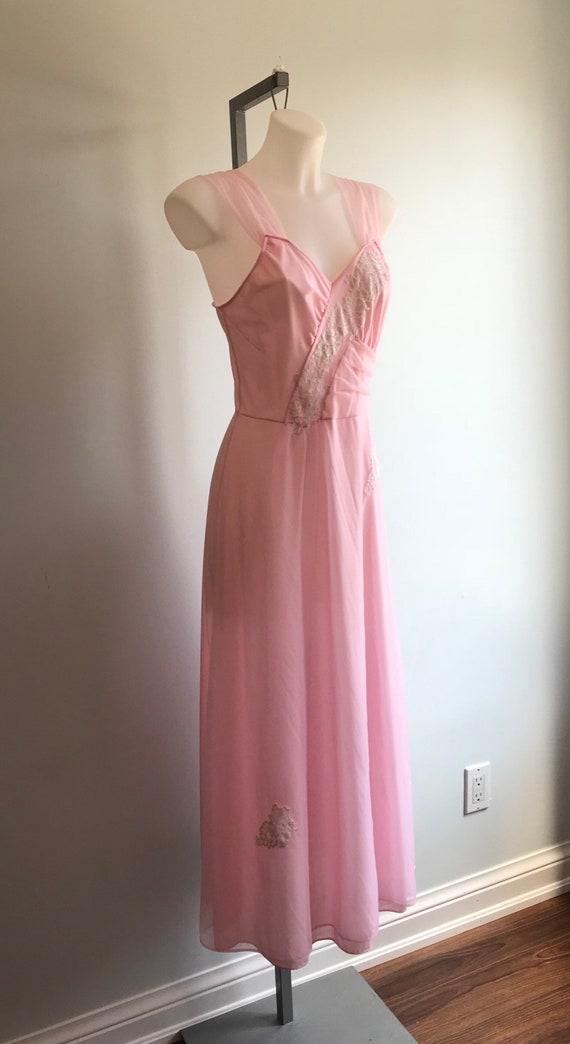 Vintage Nightgown, Vintage Lingerie, 1960s Nightg… - image 4