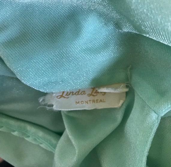 Vintage Mint Green Nightgown, 1970s Nightgown, Li… - image 8