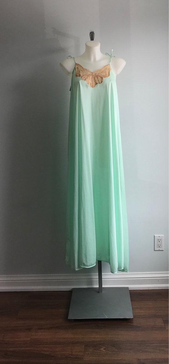 Vintage Nightgown, Mint Green Nightgown, Lov Lee,… - image 4
