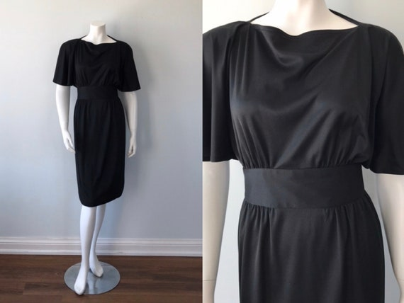 Vintage Black Dress, 1960s Black Dress, Harold Wil