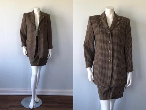 Vintage Skirt Suit, Vintage Ladies Suit, 1980s Sui