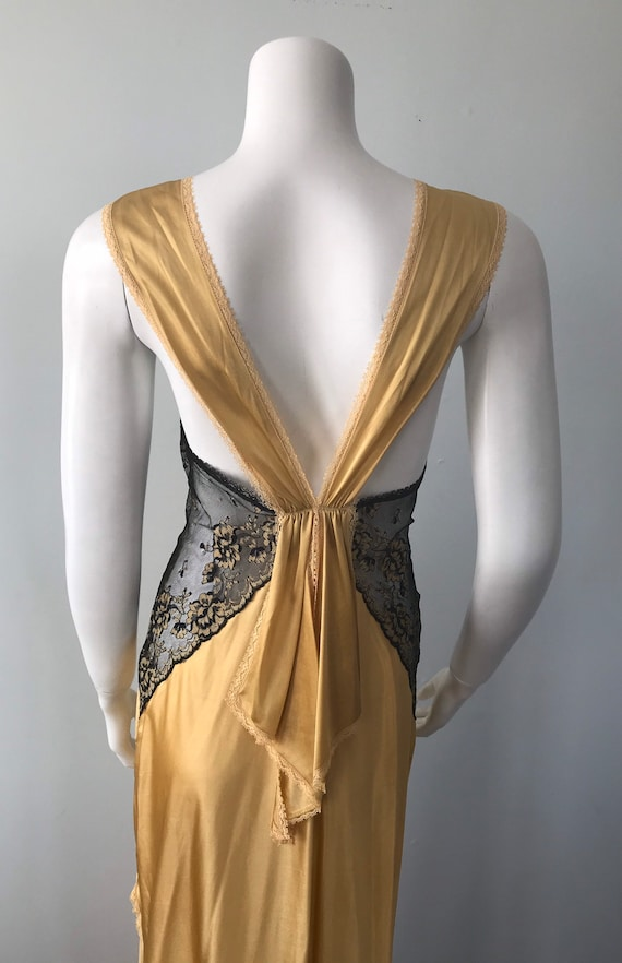 Vintage Nightgown, Luxite, 1950s Nightgown, Gold … - image 9
