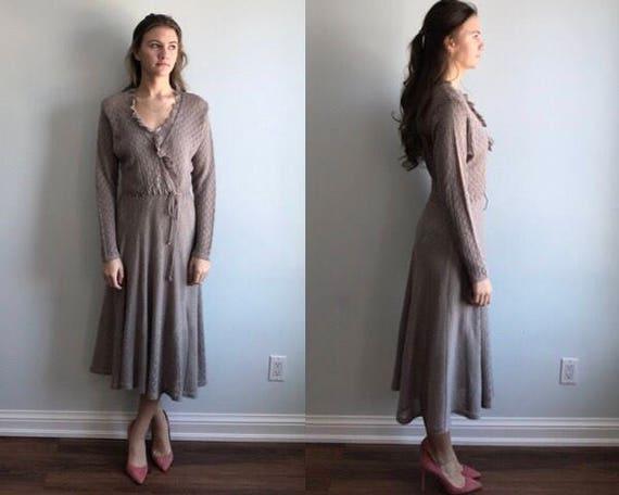 Vintage Knit Dress, 1970s Knit Dress, Van Naardhei