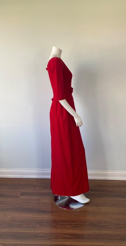 1950s Red Velvet Evening Gown, Lorrie Deb SAN Fra… - image 7