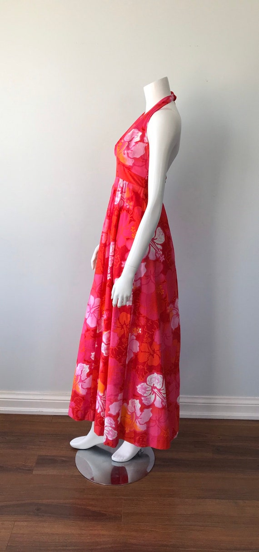 Vintage Halter Dress, Wika of Hawaii Ltd, 1960s H… - image 7