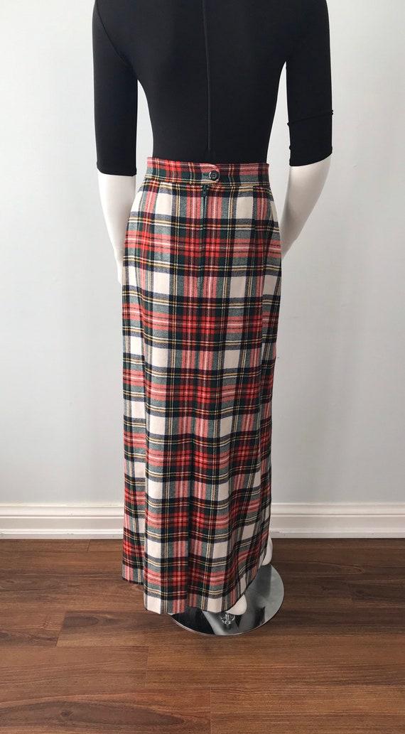 Vintage Plaid Maxi Skirt, Mister Leonard, 1970s M… - image 6
