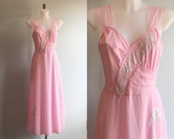 Vintage Nightgown, Vintage Lingerie, 1960s Nightgo