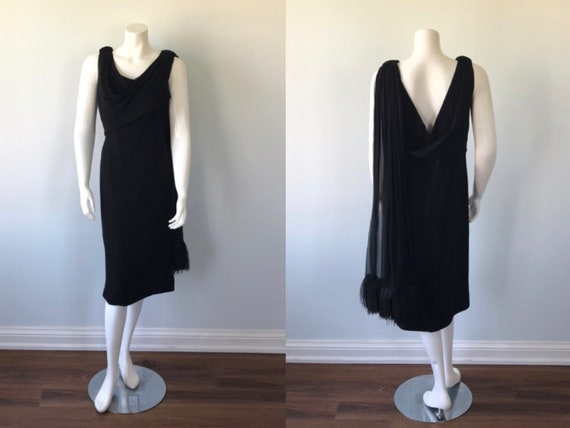 Vintage Renee Meneely Belfast Black Cocktail Dress