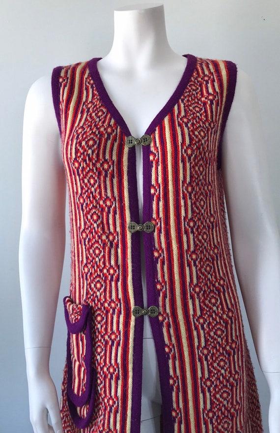 1960s Knit Long Vest, 1960s Wool Vest, Favorite K… - image 3