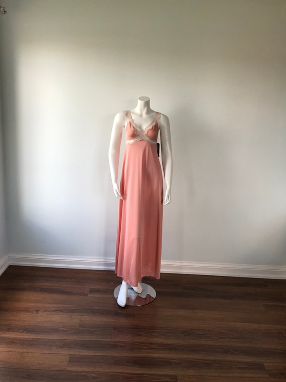 Dusty Pink Nightgown, Kayser, 1980s Nightgown, Vi… - image 2