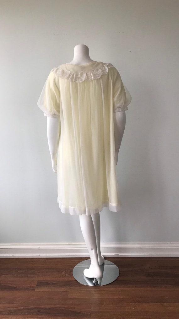 Vintage Chiffon Nightgown, St Michael, Pale Yello… - image 8
