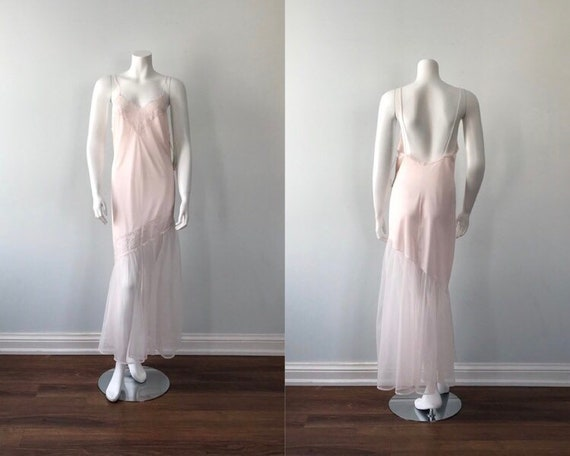 Vintage Pink Nightgown, Pink Nightgown, Kayser, 19