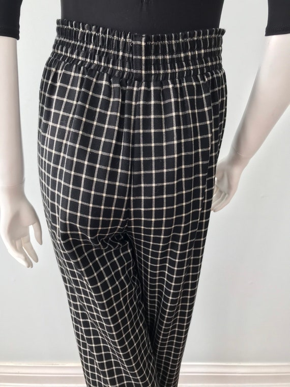 Vintage Kenzo Ladies Pants, Black and White Check… - image 9