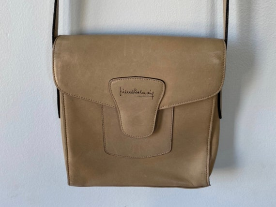 Vintage Pierre Balmain Leather Cross Body Handbag,