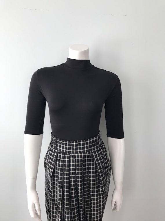 Vintage Kenzo Ladies Pants, Black and White Check… - image 4