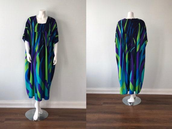 Acorn Hostess Gown, 1970s Caftan, Vintage Caftan,