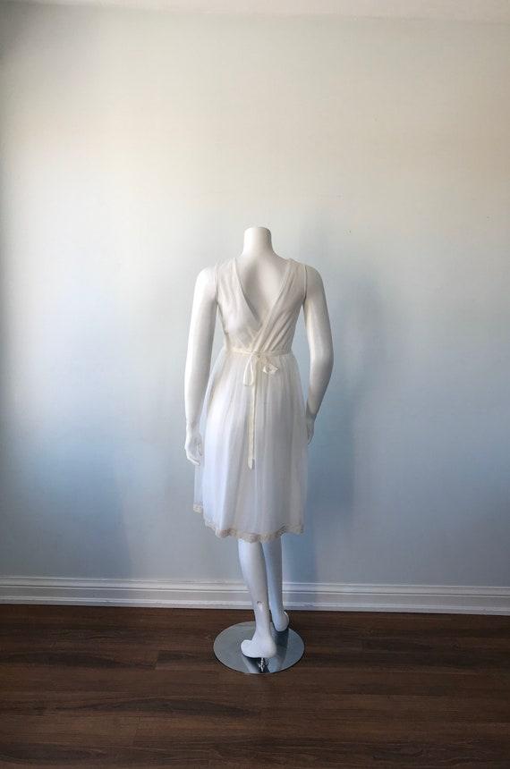 Vintage Ivory Chiffon Nightgown, 1960s Chiffon Ni… - image 6