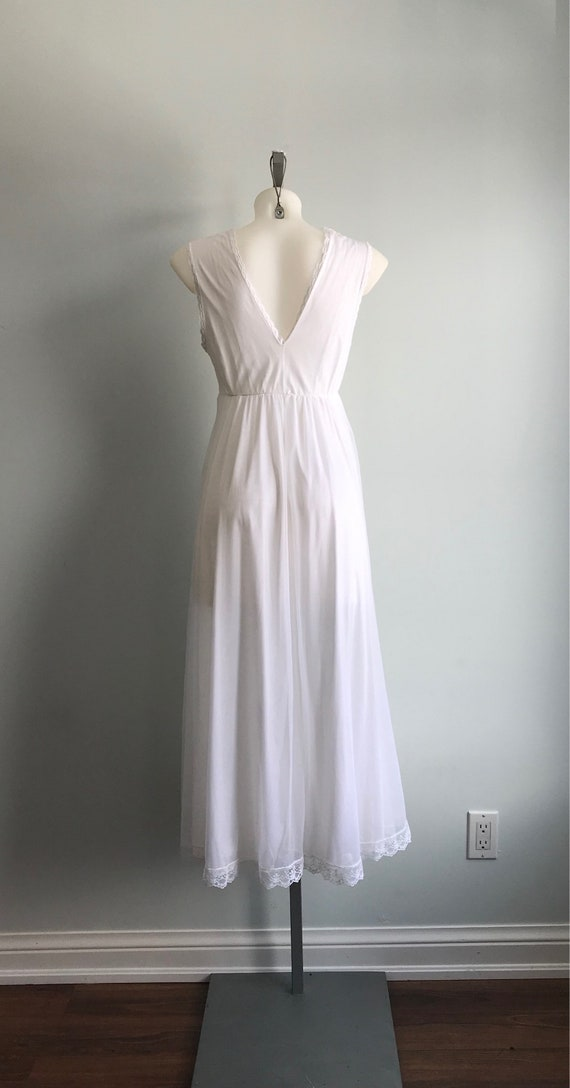 White Chiffon Nightgown, 1960s Nightgown, Tosca, … - image 8
