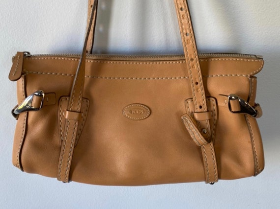 Vintage TOD'S Tan Leather Handbag, T0D'S, Leather