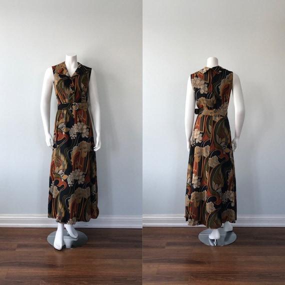 Vintage Maxi Dress, 1970s Maxi Dress, Sid Greene,
