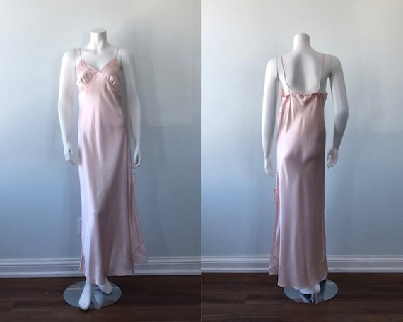Vintage Pink Nightgown, 1990s Nightgown. Emilio Ca