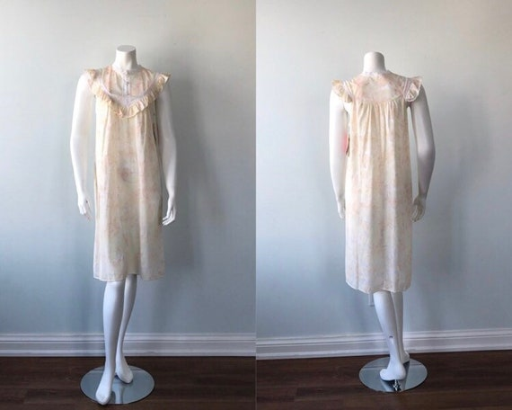 Vintage Floral Nightgown, Lov Lee, Luxelle, Vinta… - image 1