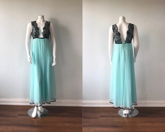 Vintage Chiffon Nightgown, Linda Underlovelies, Tu