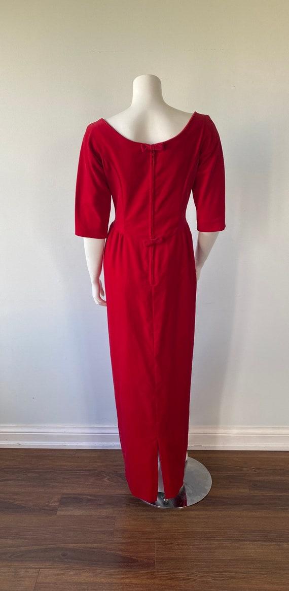 1950s Red Velvet Evening Gown, Lorrie Deb SAN Fra… - image 8