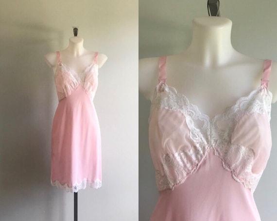 Vintage Pink Slip, Vintage Pink Full Slip, 1960s P
