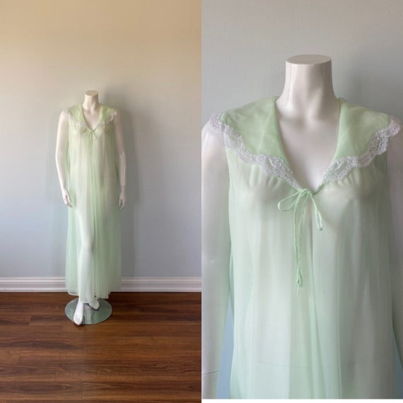 1960s Double Chiffon Negligee, Gay Lure, Vintage N