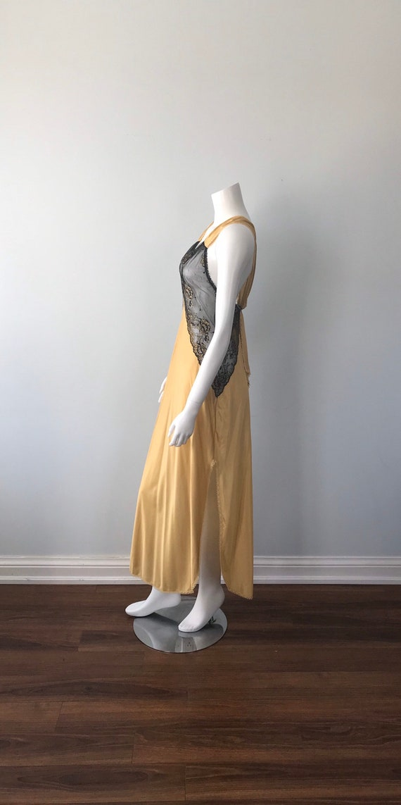 Vintage Nightgown, Luxite, 1950s Nightgown, Gold … - image 6