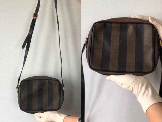 Vintage Fendi Canvas Crossbody Handbag, Vintage St