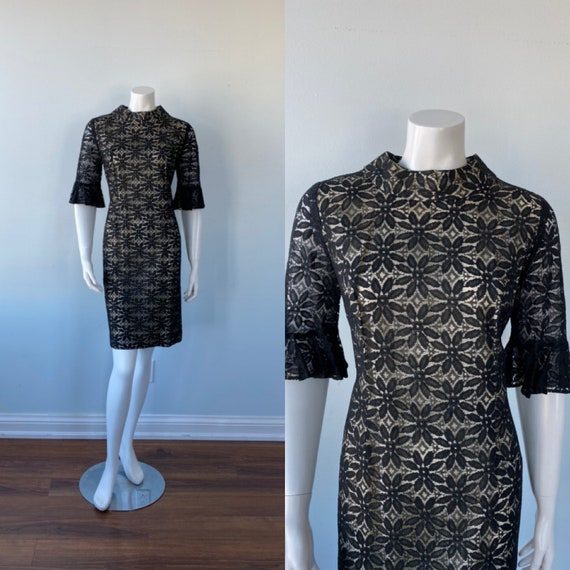 Vintage Black Lace Cocktail Dress, Lawrence Dress